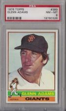 Buy 1976 Topps Baseball #389 Glenn Adams San Francisco Giants PSA NM-MT 8
