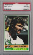 Buy 1976 Topps Baseball #335 Bob Grich Baltimore Orioles PSA NM-MT 8
