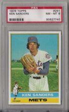 Buy 1976 Topps Baseball #291 Ken Sanders New York Mets PSA NM-MT 8