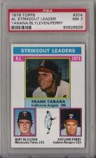 Buy 1976 Topps #204 AL Strikeout Leaders Tanana Blyleven Gaylord Perry PSA NM 7 HOF