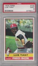 Buy 1976 Topps Baseball #130 Luis Tiant Boston Red Sox PSA MINT 9 20799111