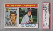 Buy 1976 Topps Baseball #70 Roy Smalley Father & Son PSA MINT 9(OC) Braves Rangers