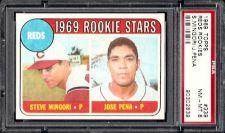 Buy 1969 Topps Baseball 339 Cincinnati Reds Rookie Stars PSA NM-MT 8 Mingori Pena