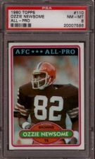 Buy 1980 Topps Football #110 Ozzie Newsome PSA 8 NM-MT Cleveland Browns HOF