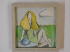 Buy Girl Sitting in Grass 1970