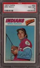 Buy 1977 Topps Baseball #62 Eric Raich Cleveland Indians PSA NM-MT 8