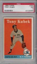 Buy 1958 Topps Baseball #393 Tony Kubek New York Yankees PSA NM 7