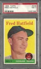 Buy 1958 Topps Baseball #339 Fred Hatfield Cleveland Indians PSA NM 7