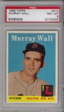 Buy 1958 Topps Baseball #410 Murray Wall Boston Red Sox PSA NM-MT 8