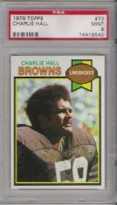 Buy 1979 Topps Football #73 Charlie Hall Cleveland Browns PSA 9 MINT