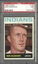 Buy 1964 Topps Baseball #122 Don McMahon Cleveland Indians PSA NM 7