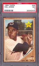 Buy 1962 Topps #49 Hal Jones Cleveland Indians PSA NM 7