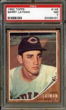 Buy 1962 Topps #145 Barry Latman Cleveland Indians PSA NM 7
