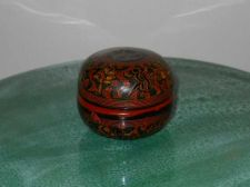Buy Painted and Carved Cinnabar Lacquer box