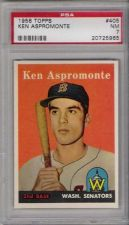 Buy 1958 Topps #405 Ken Aspromonte Washington Senators PSA NM 7