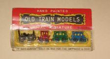 Buy Vintage Miniature Metal Train Set MIB Made in Japan