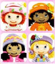 Buy 4x Strawberry Shortcake & Friends Crochet PDF Pattern Digital Delivery