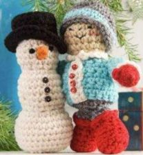 Buy Snowman & Little Boy Crochet PDF Pattern Digital Delivery