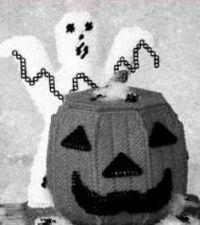 Buy Goulish Ghost & Pumpkin Basket Plastic Canvas PDF Pattern Digital Delivery