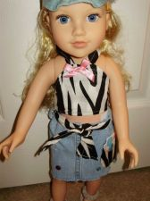 Buy doll skirt and halter top for 18 inch doll