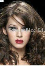 Buy Long Human Wavy Sexy Dark Brown Hair Clip In Extensions 100% Waves Full Head