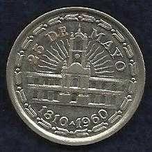 Buy ARGENTINA: KM #58 - 1 Peso - Revolution 1810 (1960)