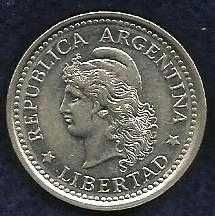 Buy 1958 Argentina 1 Peso World Coin