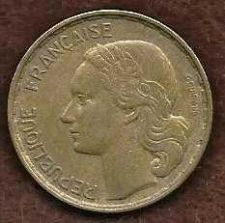 Buy 1953 B France 50 Francs Coin KM# 100.1 Aluminum-Bronze Collector's Coin Rare!