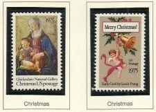 Buy US Christmas Madonna & Child 10c MNH 1975 & US1580 Christmas Card by Louis Prang