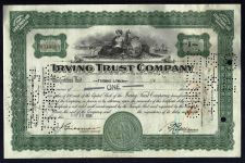 Buy Vintage Old Irving Trust Company 1930's Stock Certificate May 18, 1934