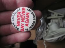 Buy Sean Connery NEVER SAY NEVER AGAIN 007 James Bond button OLD real