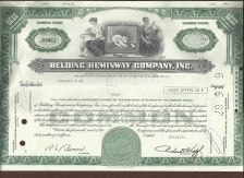 Buy Belding Heminway Corporation Stock Certificate
