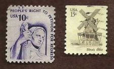 Buy Stamp US Peoples right to petition & 15c ILLINOIS 1860 WINDMILL ARTCRAFT POSTAL
