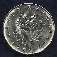 Buy Czech Republic 2 Korun 1998 Coi - Crowned Czech Lion
