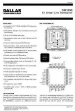 Buy INTEGRATED CIRCUIT DATA DS2153QJ Manual by download Mauritron #186844