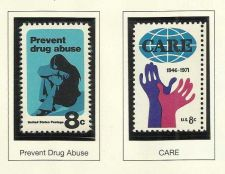 Buy 1971 Prevent Drug Abuse & CARE US MINT STAMPS