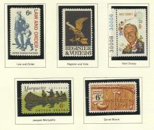 Buy 1968 Stamp Commemoratives Law& Order/Register Vote/Walt Disney/Marquette/Boone