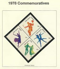 Buy 1978 Commemoratives American Dance - in high quality mount