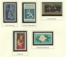 Buy 1967 Commemoratives Urban Planning Finland Eakins Christmas Missisipi