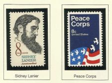 Buy 1972 Commemoratives Siney Lanier & Peace Corps US MINT STAMPS