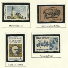Buy US STAMPS 1970 Maine, Buffalo, Edgar Masters Women Suffrage 4 in quality mount
