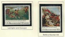 Buy 1975 USA STAMP - US Bicentennial- Lexington & Concord / Battle of Bunker Hill