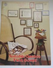 Buy Cross Stitch Notable Quotes That Count Designs by Gloria and Pat 1976