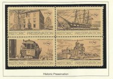 Buy STAMPS US STAMPS 1971 HISTORIC PRESERVATION - BLOCK OF 4 in high quality mount