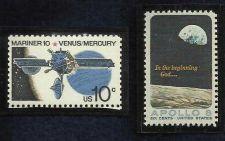 Buy RARE APOLLO 8 1969 Scott #1371 & Mariner 10 Venus 1975 Scott #1557 US Mint Stamp