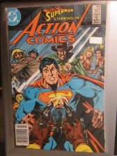 Buy Action Comics #557 SUPERMAN nice gloss and color 1984 1st series Fine or better