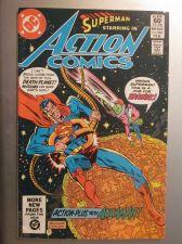 Buy Action Comics #528 SUPERMAN nice gloss & color 1982 1st series NM