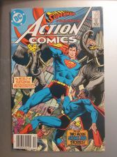 Buy Action Comics #572 SUPERMAN 1985 nice gloss & color 1st print, 1st series ever