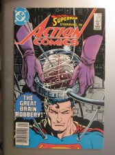 Buy Action Comics #575 SUPERMAN 1985 nice gloss & color 1st print, 1st series ever