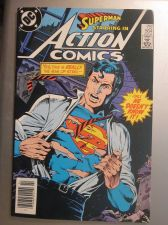 Buy Action Comics #564 SUPERMAN 1985 nice gloss & color 1st print, 1st series ever